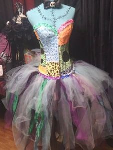Custom corset halloween costume Sally inspired